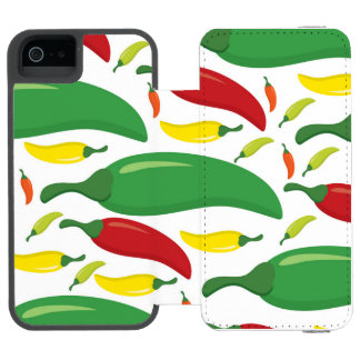 Chilli pepper pattern incipio watson™ iPhone 5 wallet case
