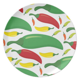 Chilli pepper pattern party plates