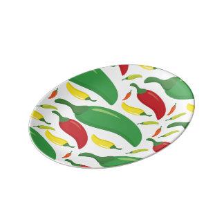 Chilli pepper pattern porcelain plate
