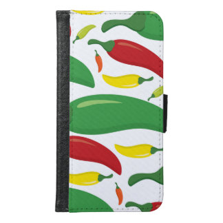 Chilli pepper pattern samsung galaxy s6 wallet case