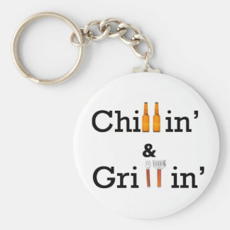 Chillin and Grillin Key Ring