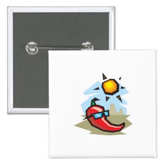 chillin chili pepper 15 cm square badge