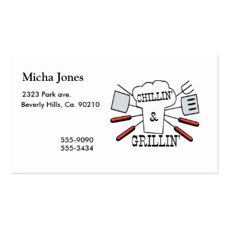 Chillin & Grillin BBQ Fun Pack Of Standard Business Cards