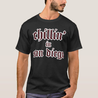 chillin in san diego - dark T-Shirt