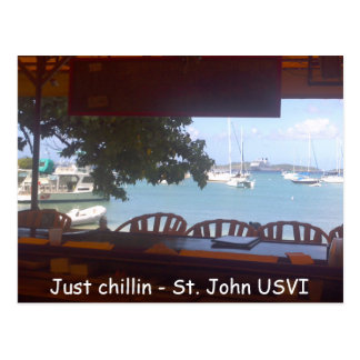 Chillin' on St. John Postcard