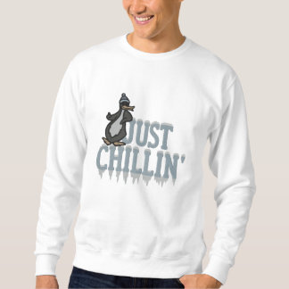 Chillin Penguin Embroidered Sweatshirt