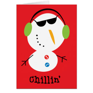 Chillin' snowman cards