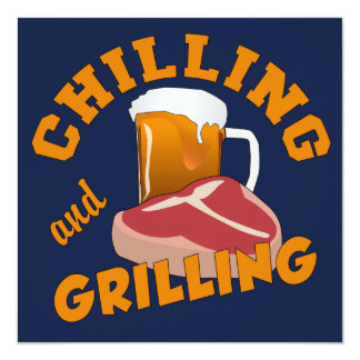 Chilling & Grilling custom BBQ invitations