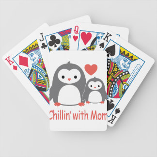 chilling with Mom, cool loving cartoons Bicycle Playing Cards