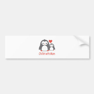 chilling with Mom, cool loving cartoons Bumper Sticker
