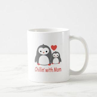 chilling with Mom, cool loving cartoons Coffee Mug