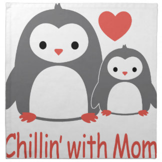 chilling with Mom, cool loving cartoons Napkin