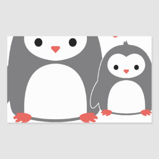 chilling with Mom, cool loving cartoons Rectangular Sticker