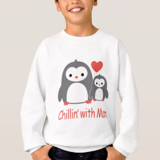 chilling with Mom, cool loving cartoons Sweatshirt