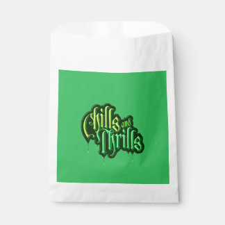 Chills And Thrills Halloween Favor Bags