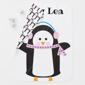 Chilly Penguin Baby Blanket