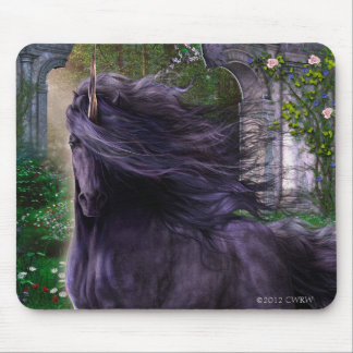 Chimera the Black Unicorn Mousepad