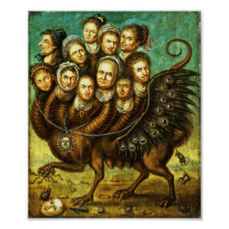Chimera Winged Creature Grotesque Horror Monster Poster