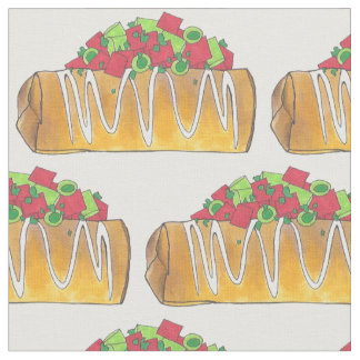 Chimichangas Southwestern Fried Burrito Tex Mex Fabric