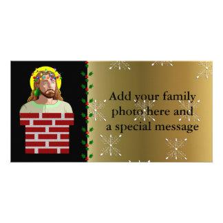 Chimney Jesus Photo Greeting Card