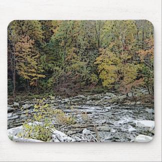 Chimney Rock, Creek, & Seasons Greetings Mouse Pad