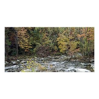 Chimney Rock, Creek, & Seasons Greetings Photo Card