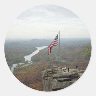 Chimney Rock Mountain Classic Round Sticker