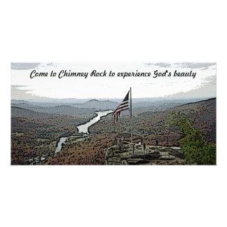 Chimney Rock Mountain Creek Customized Photo Card