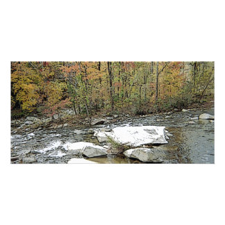 Chimney Rock Mountain & Creek Custom Photo Card