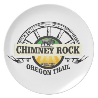 chimney rock yellow art plate