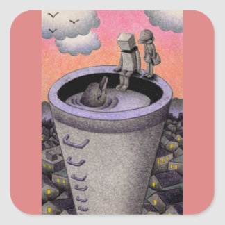 Chimney Square Sticker