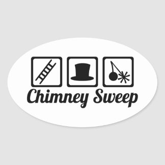 Chimney sweep oval sticker