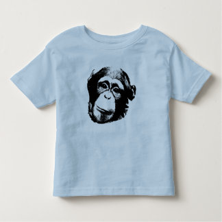 Chimp Face - in Black Toddler T-Shirt