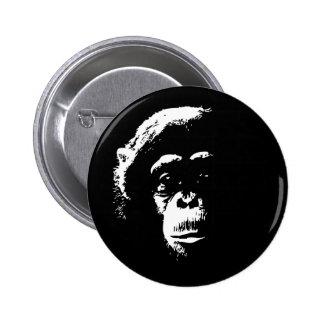 Chimp Shadows 6 Cm Round Badge