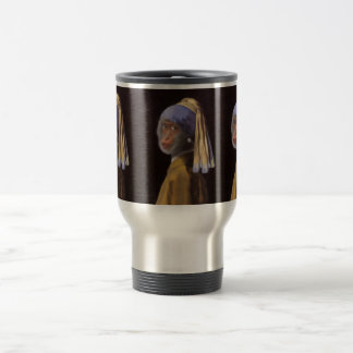 Chimp With The Pearl Earring Stainless Steel Travel Mug