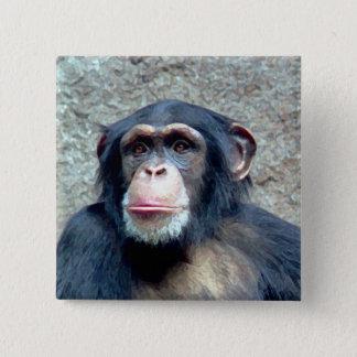 Chimpanzee 15 Cm Square Badge