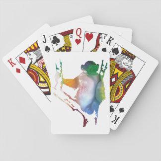 chimpanzee art playing cards