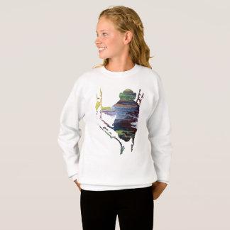 chimpanzee art sweatshirt
