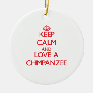 Chimpanzee Ceramic Ornament
