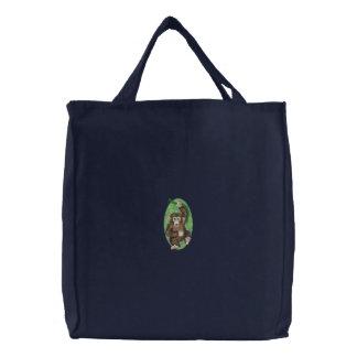 Chimpanzee Embroidered Bag