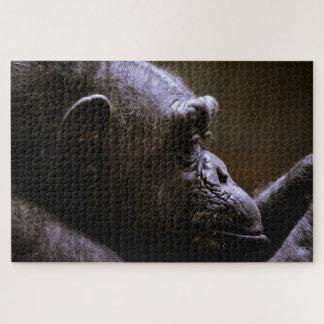 Chimpanzee Head close up Jigsaw Puzzle