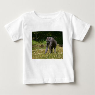 Chimpanzee in the flowering grass baby T-Shirt