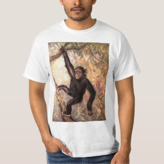 Chimpanzee Monkey by CE Swan, Vintage Wild Animals T-Shirt