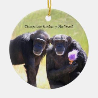Chimpanzee Ornament - Annie & Foxie