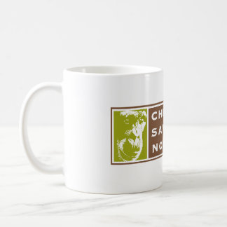 Chimpanzee Sanctuary Northwest 11oz white mug