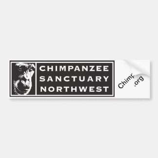 Chimpanzee Sanctuary Northwest Logo Bumper Sticker