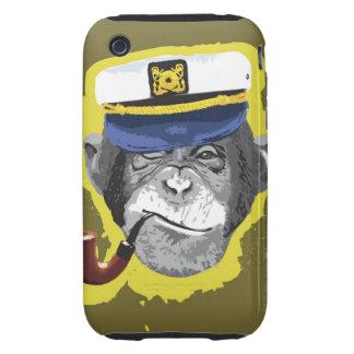 Chimpanzee Smoking Pipe iPhone 3 Tough Cases
