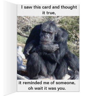 Chimpanzee That Likes To Think, Card