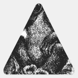 chimpanzee triangle sticker