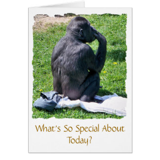 CHIMPANZEES CARD